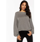 Project Social T Til Tomorrow Lurex Volume Sleeve Top