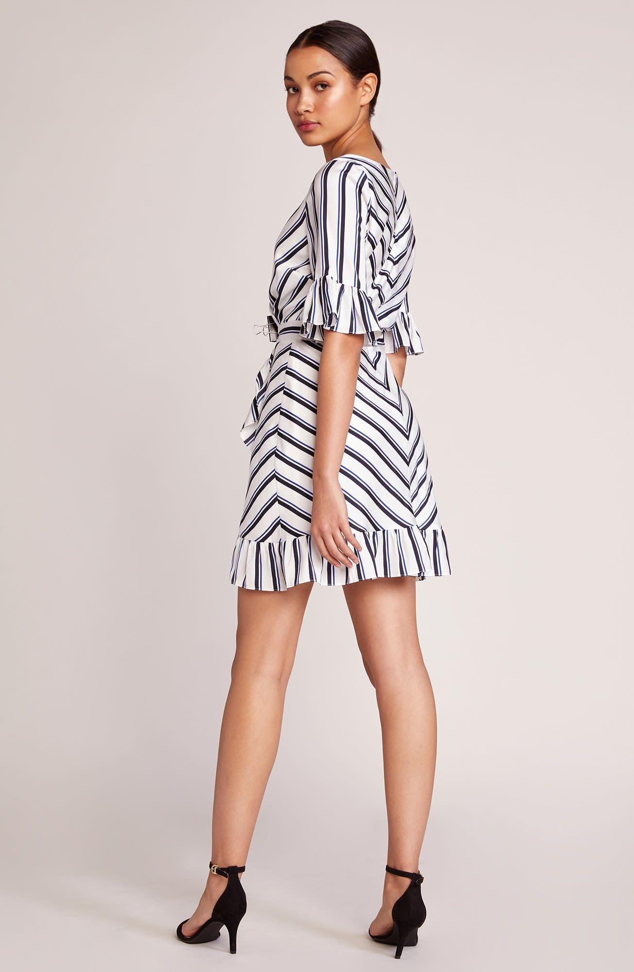 BB Dakota Visual Pursuit Striped Dress