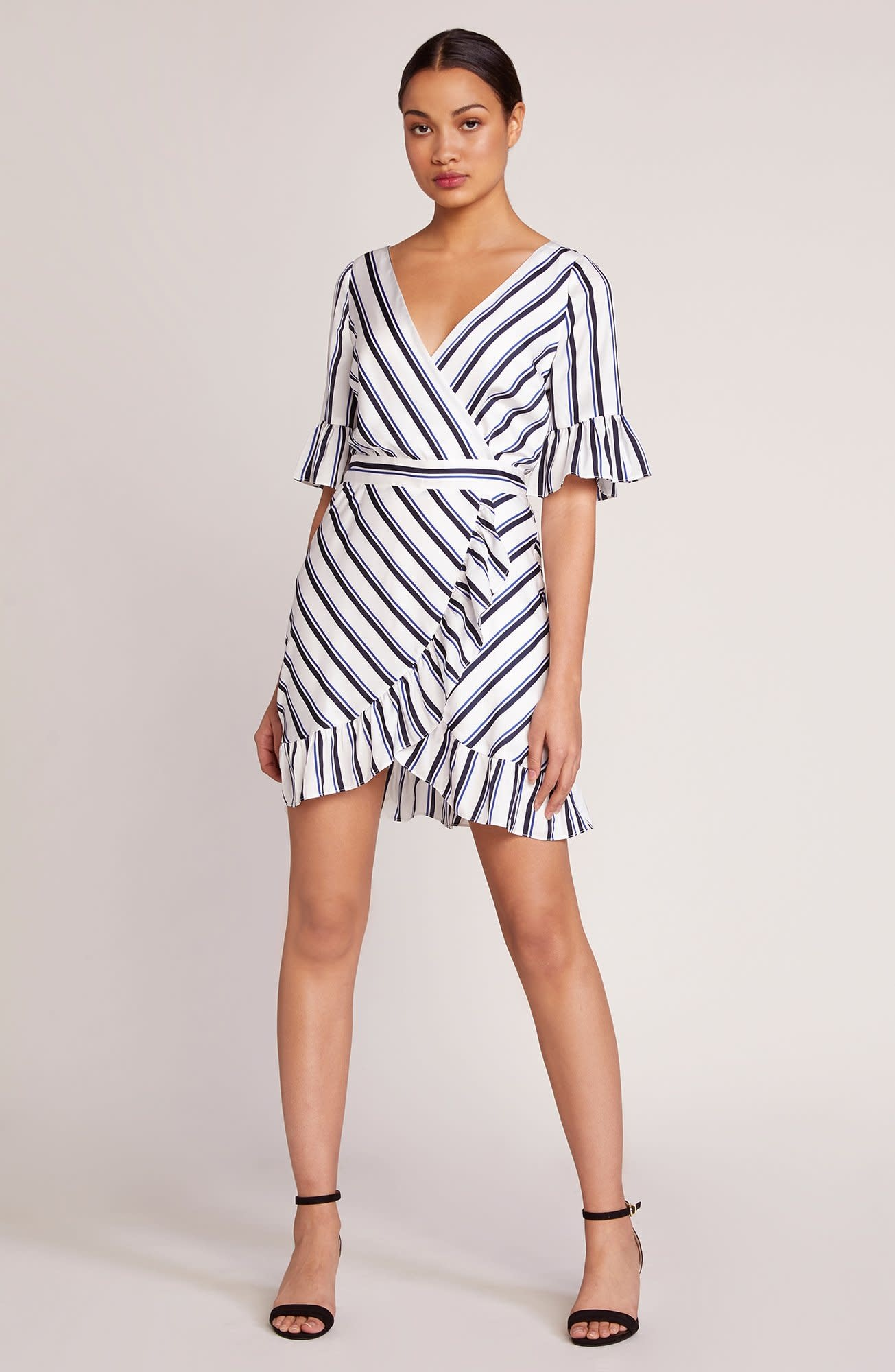 BB Dakota Visual Pursuit Striped Dress