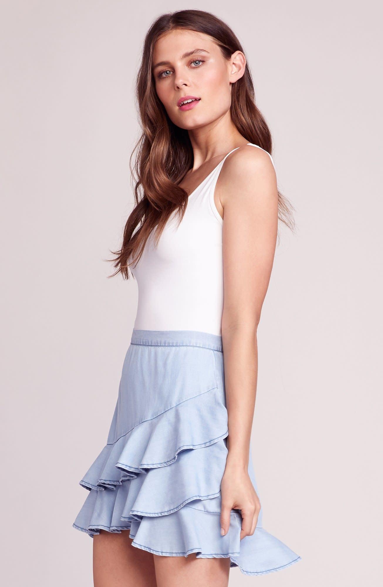 BB Dakota Ruffle Around Chambray Skirt