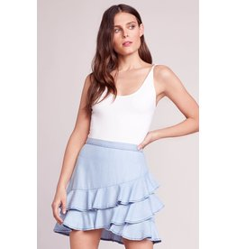 BB Dakota Ruffle Around Chambray Skirt