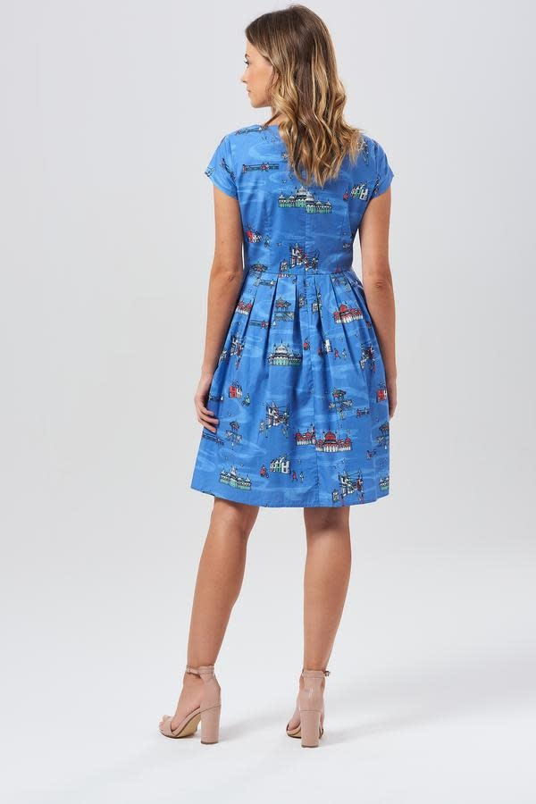 Sugarhill Brighton Sophie Brighton Sights Fit and Flare Dress