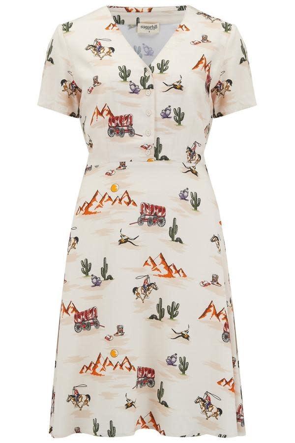 Sugarhill Brighton Carrie Vintage Cowboy Tea Dress