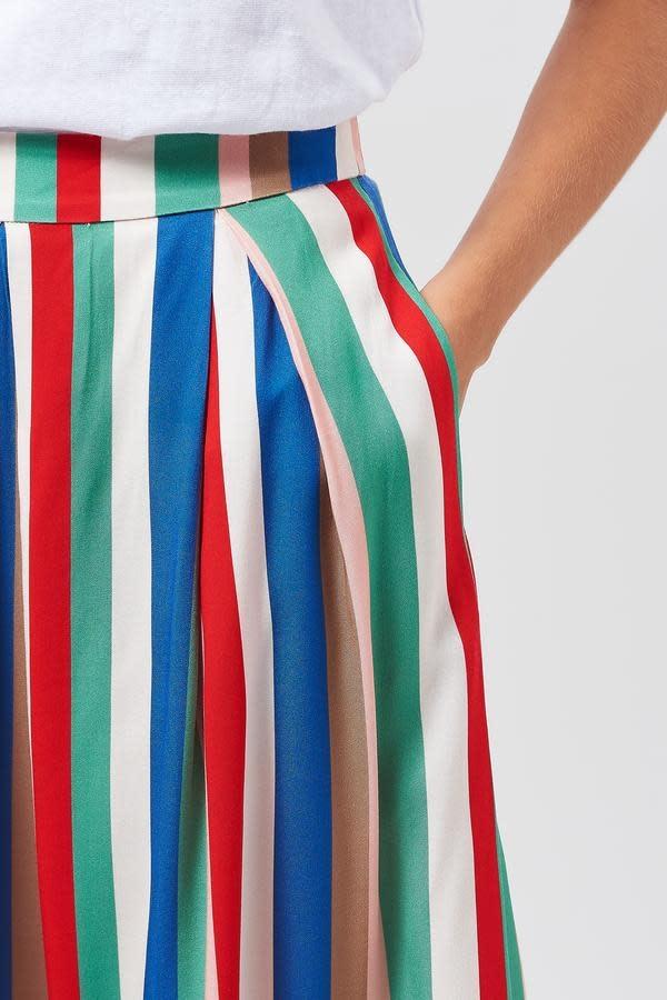 Sugarhill Brighton Payton Cabana Stripe Midi Skirt