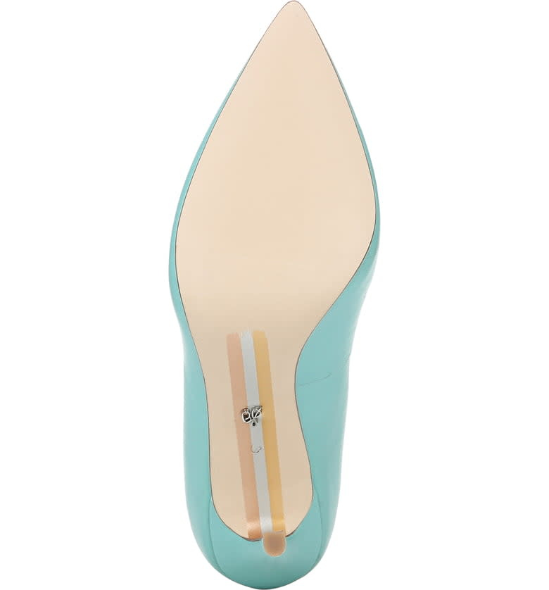 Sam Edelman Hazel Pointed Toe Pump Aquamarine