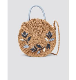 Draper James Straw Embroidered Dot Bag