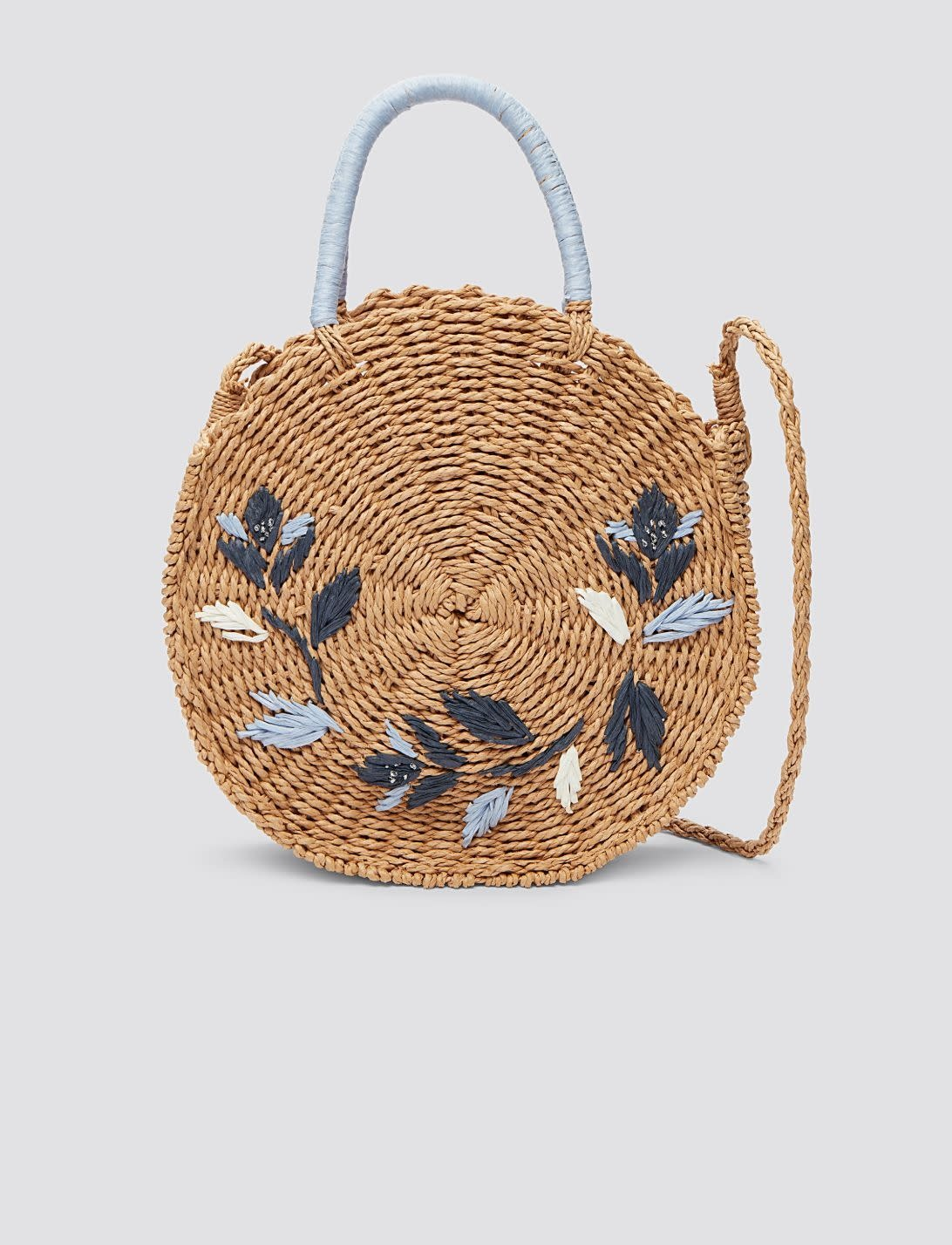 Draper James Straw Embroidered Dot Bag