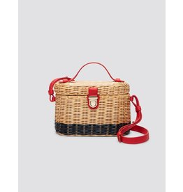 Draper James Colorblock Wicker Bag Natural