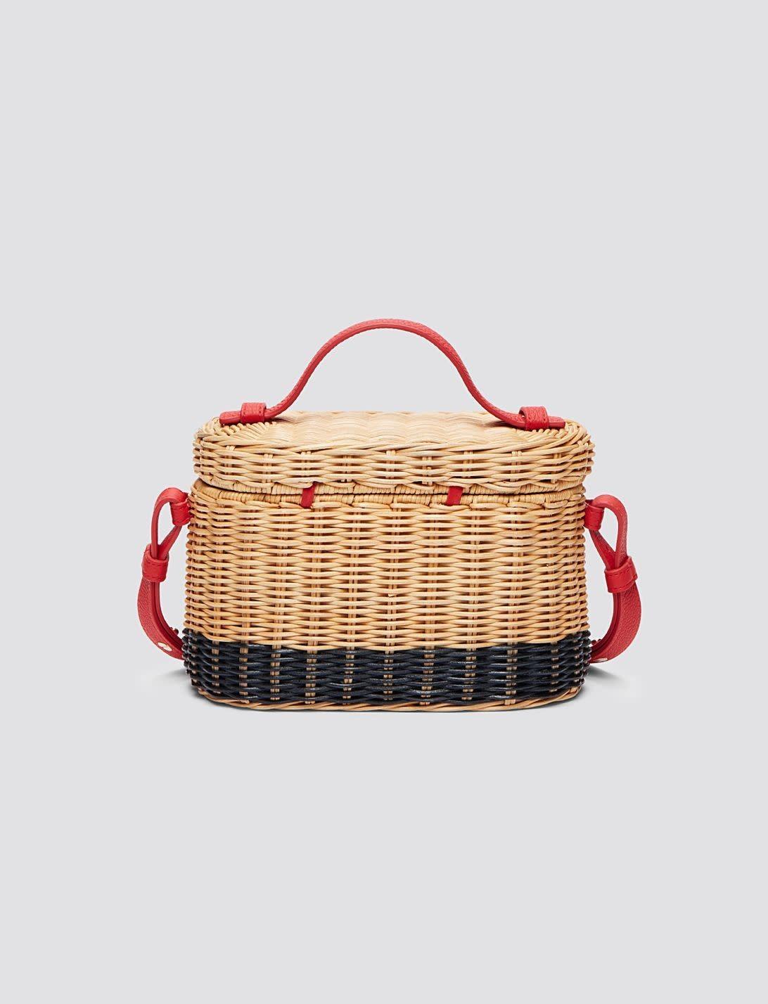 Draper James Colorblock Wicker Bag Natural