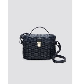 Draper James Wicker Bag Nassau Navy
