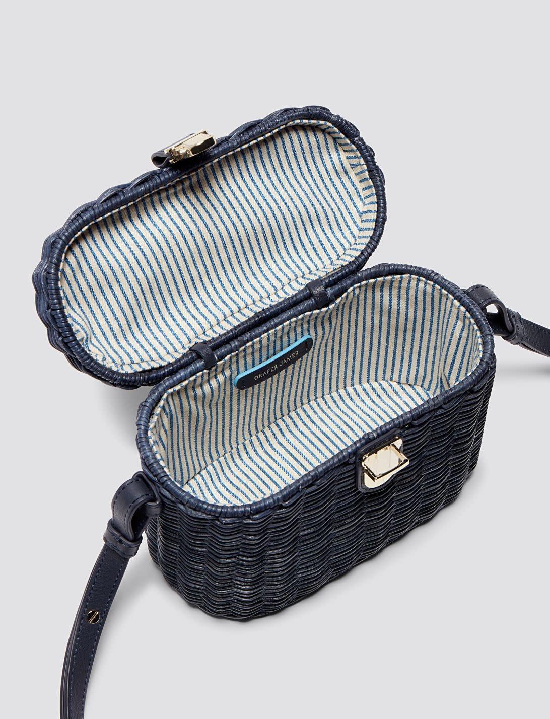 Draper James Wicker Bag Nassau Navy