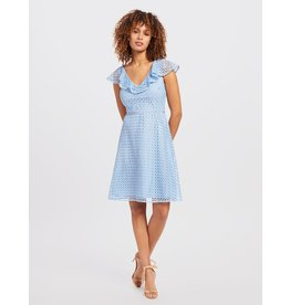 Draper James Lattice A-line Dress Light Blue