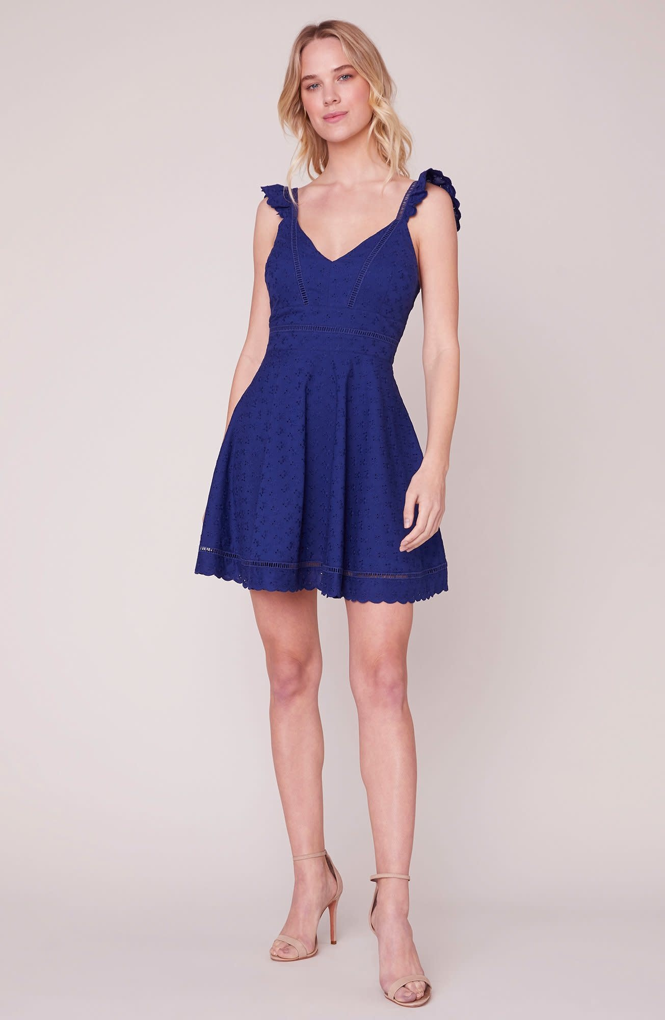 BB Dakota Eyelet You Win Flare Dress