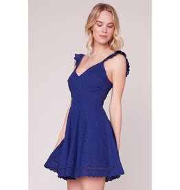 BB Dakota Eyelet You Win Flare Dress