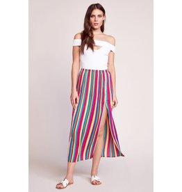 BB Dakota Outside The Lines Rainbow Pleated Skirt