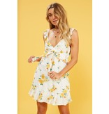 MINKPINK Lemon Bloom Mini Dress