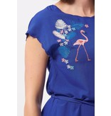 Sugarhill Brighton Flamingos & Flowers Embroidered Dress