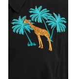 Sugarhill Brighton Justine Giraffe Embroidered Shirt Dress