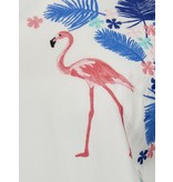 Sugarhill Brighton Flamingos & Flowers Embroidered Top