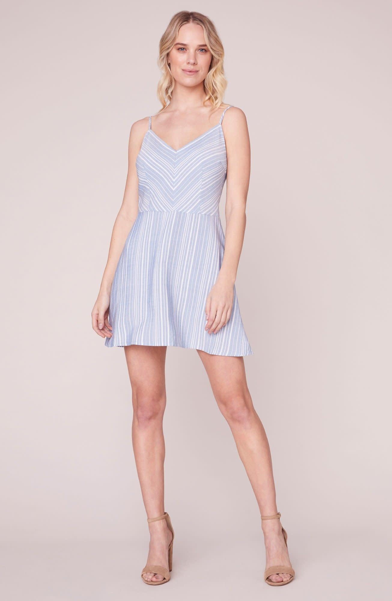 BB Dakota Fine Lines Chambray Dress