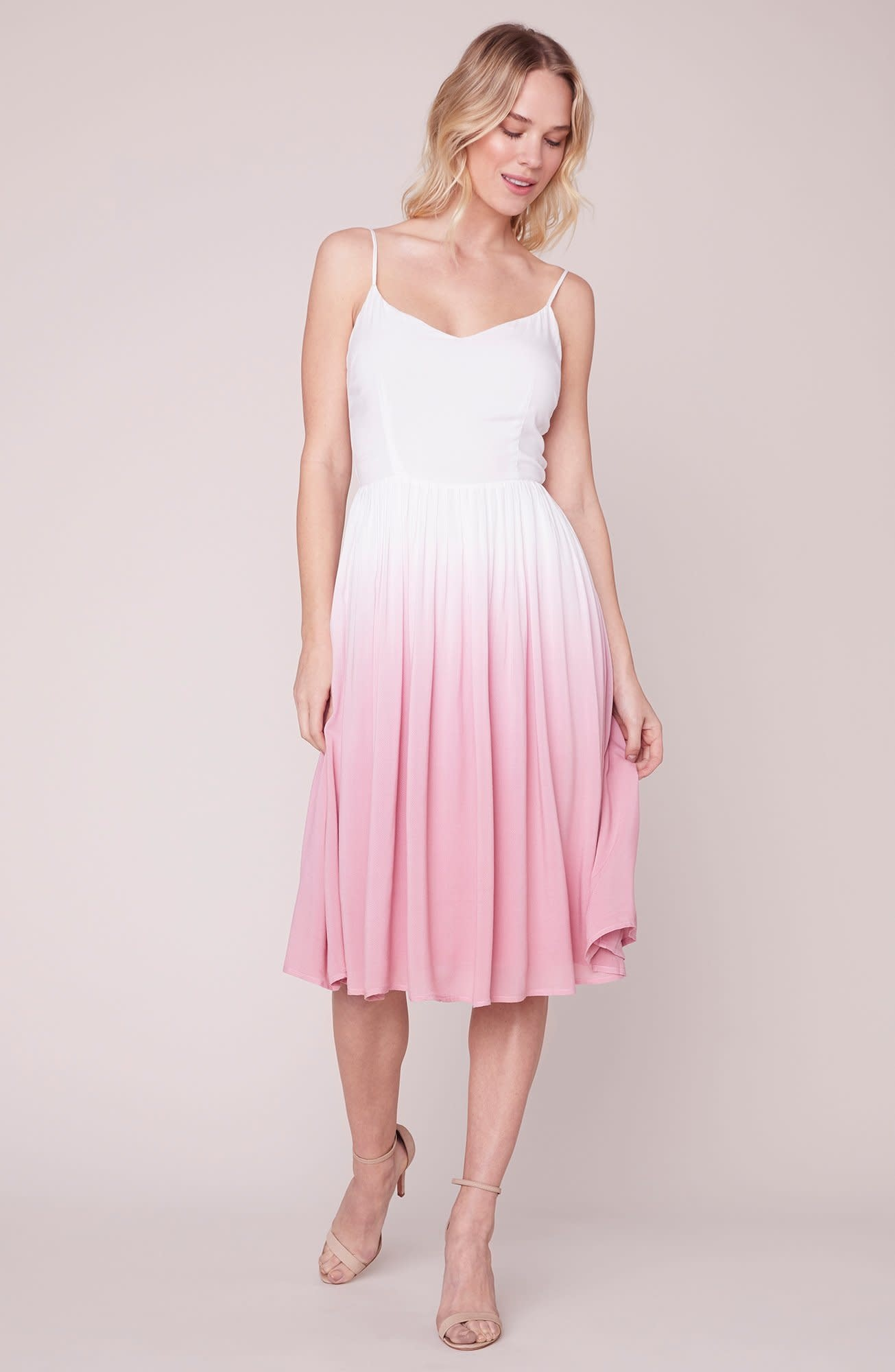 BB Dakota Pink Sunset Midi Dress