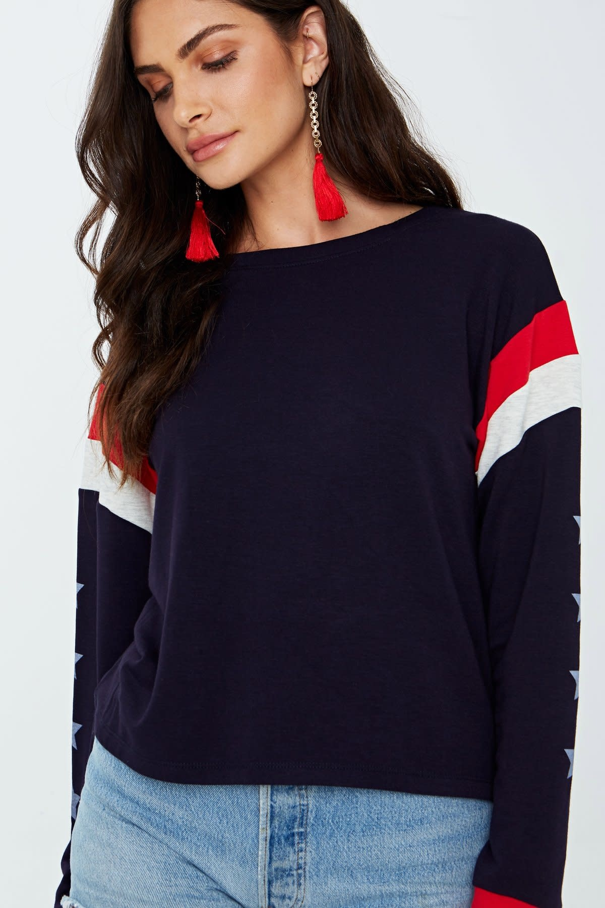 Project Social T Star Colorblocked Sweatshirt
