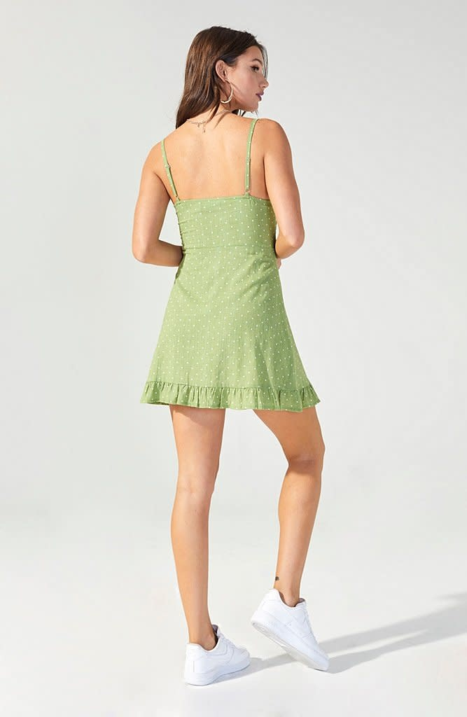 MINKPINK Safari Star Light Green Mini Dress