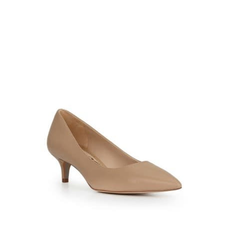 Sam Edelman Dori Kitten Heel Nude Leather