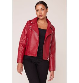 BB Dakota Moto Finish Rouge Textured Jacket