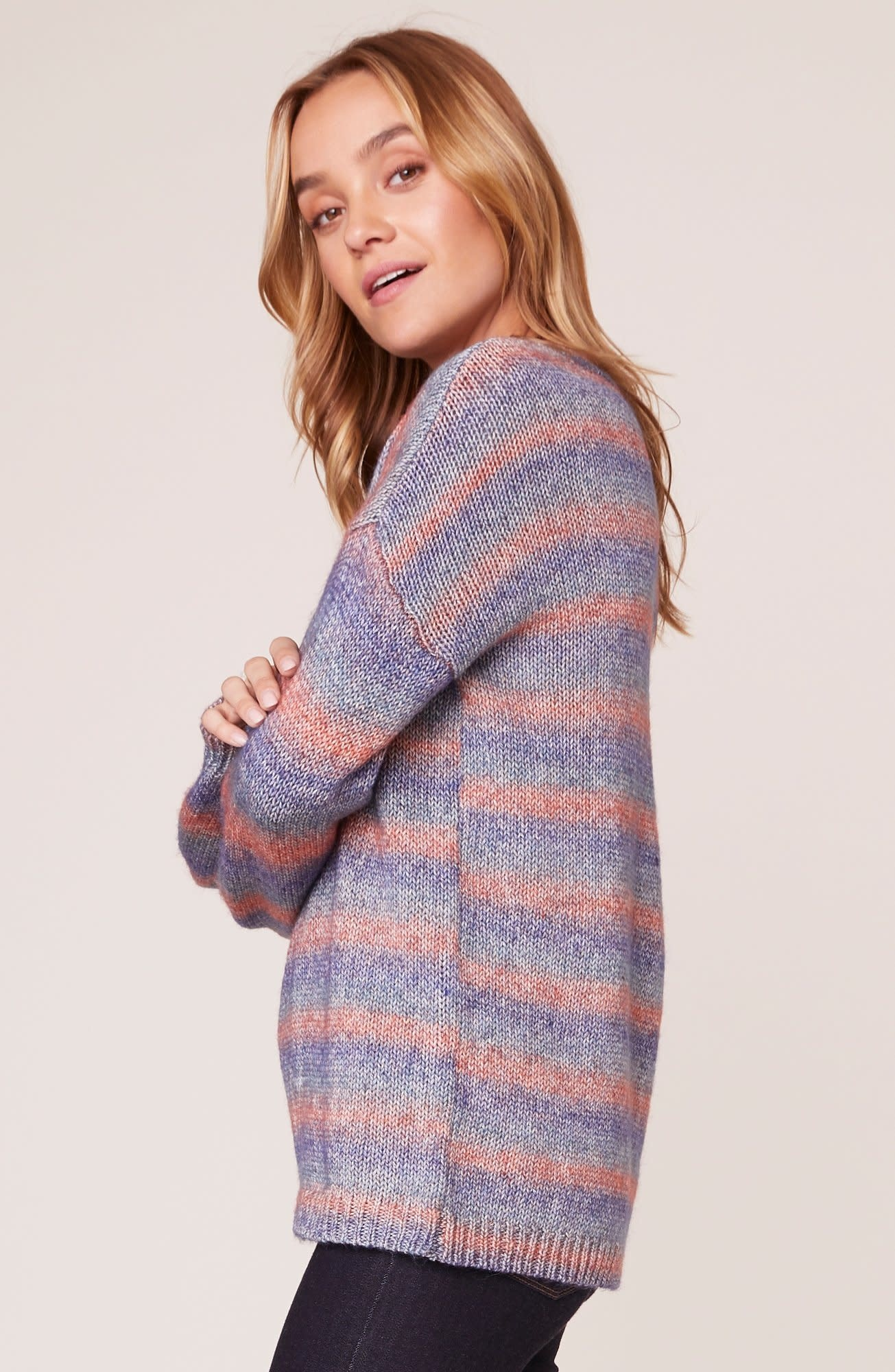 BB Dakota Give Me Space Stripe Sweater