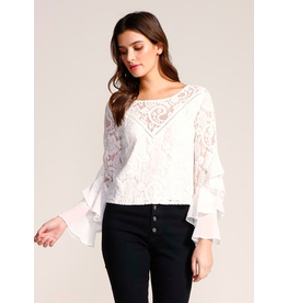 Jack by BB Dakota Drama Queen Lace and Ruffle Top