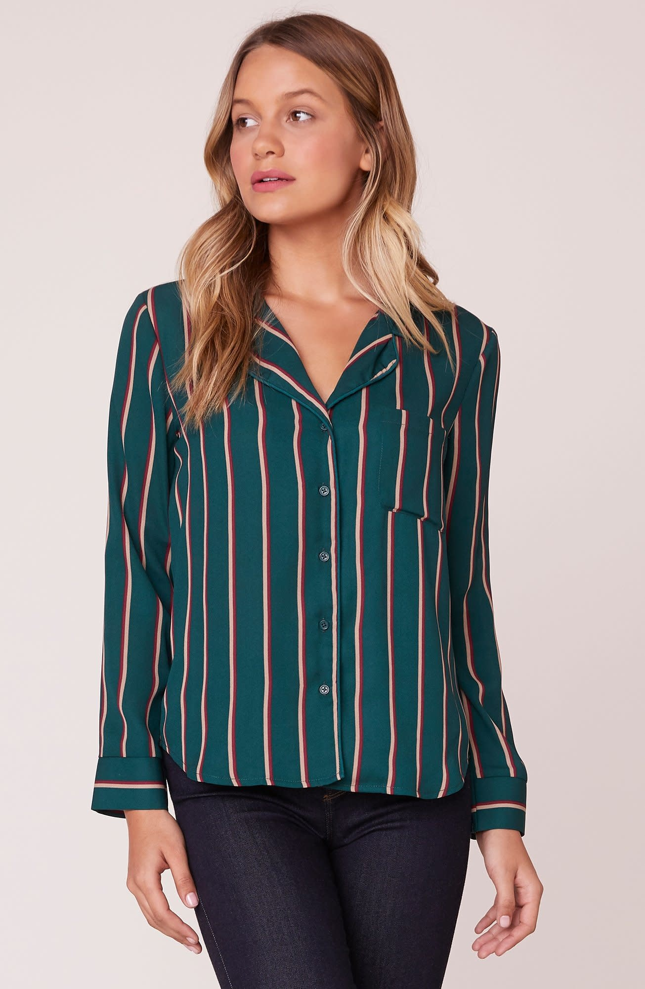 What's Your Line Printed Button Down