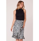 Jack by BB Dakota In The Wild Leopard Wrap Skirt