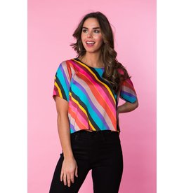 Crosby By Mollie Burch Brandon Crop in Disco Stripe