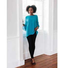 La Roque Ivy Top in Turquoise