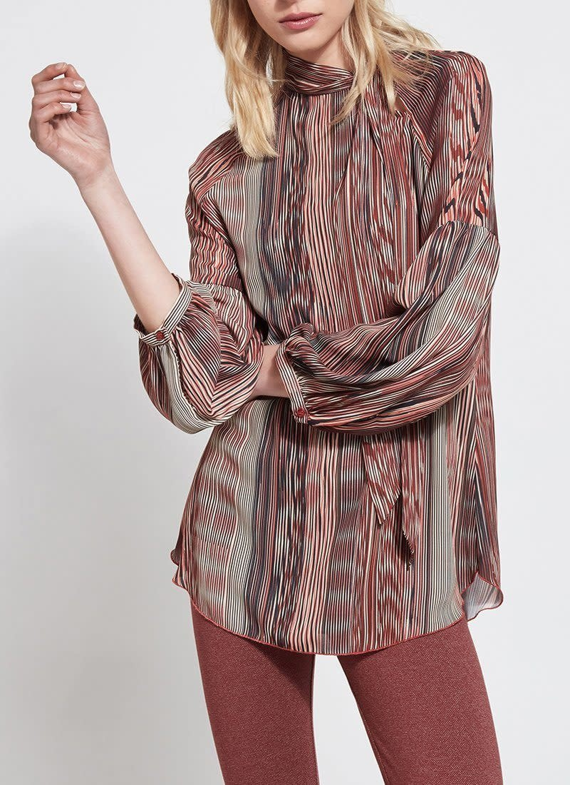 Lysse Scribe Print Perry Blouse