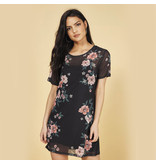 MINKPINK Midnight Flower Mesh Tee Dress