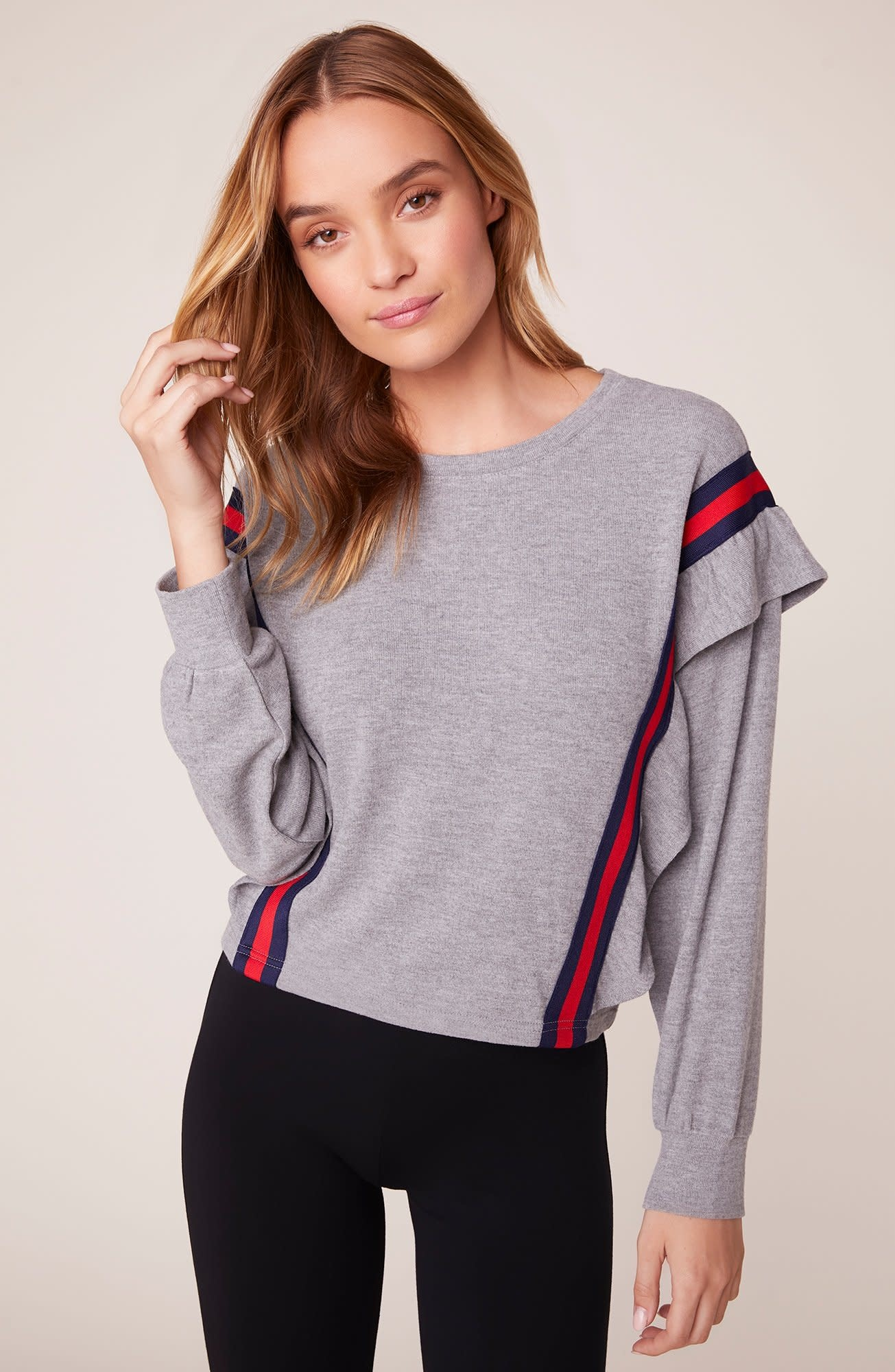 BB Dakota All Good Ruffle Sweatshirt