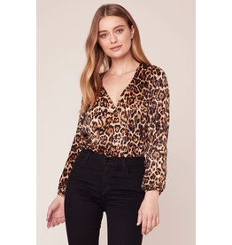 BB Dakota Ride or Tie Leopard Print Bodysuit