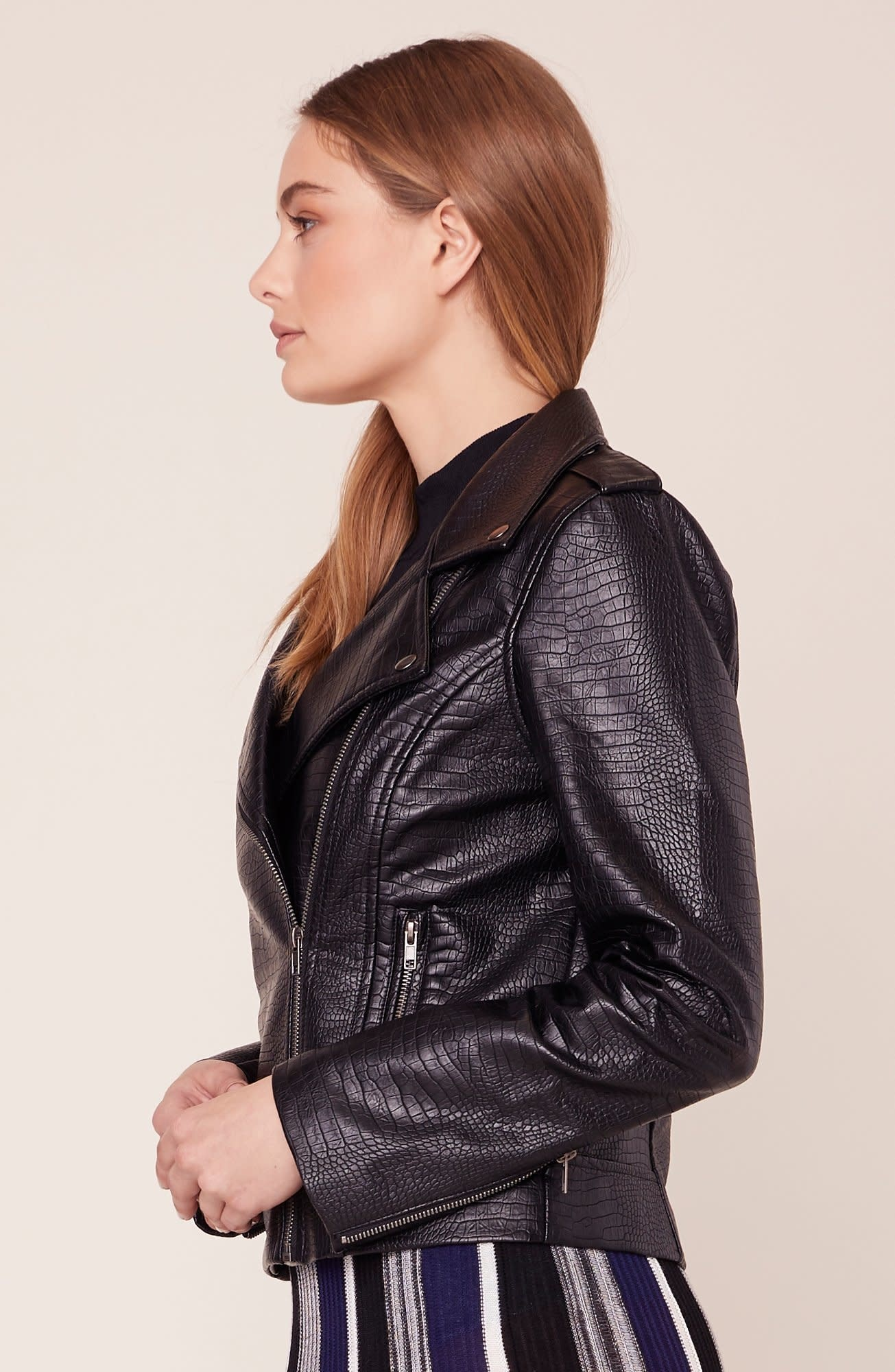 BB Dakota Lucky Lizard Vegan Leather Jacket