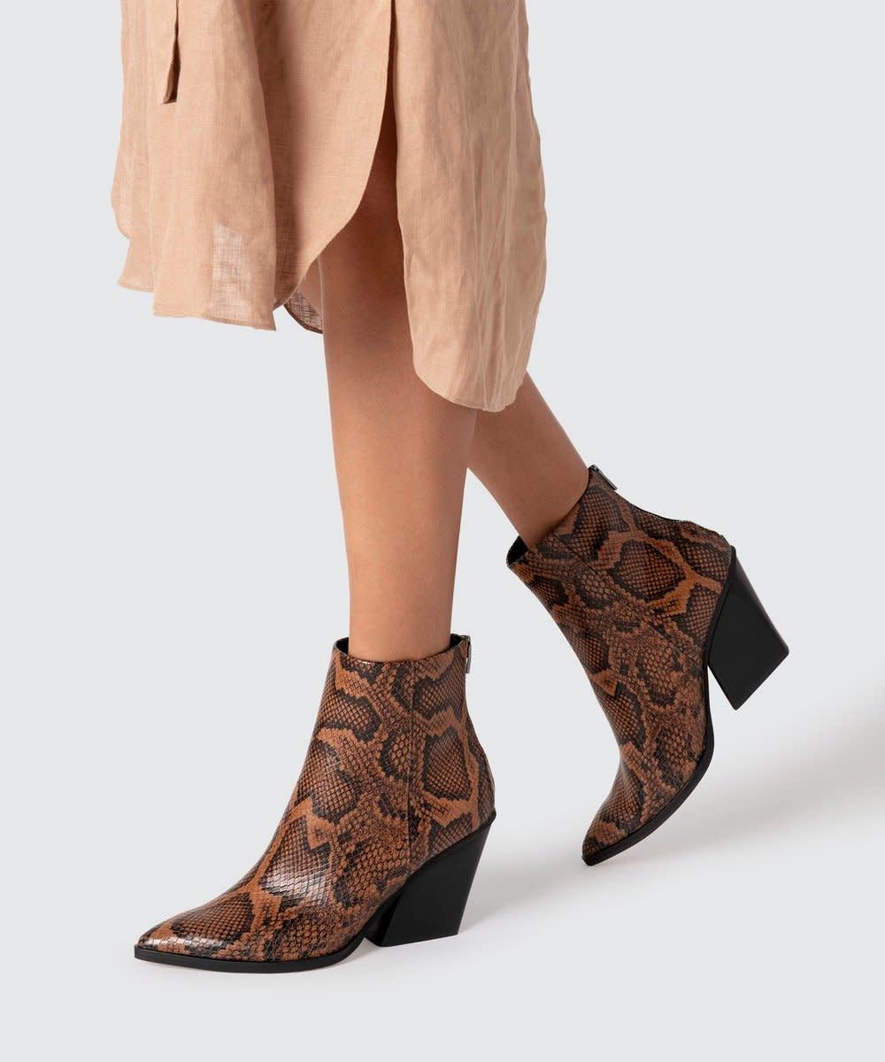 Dolce Vita Issa Caramel Snake Boot