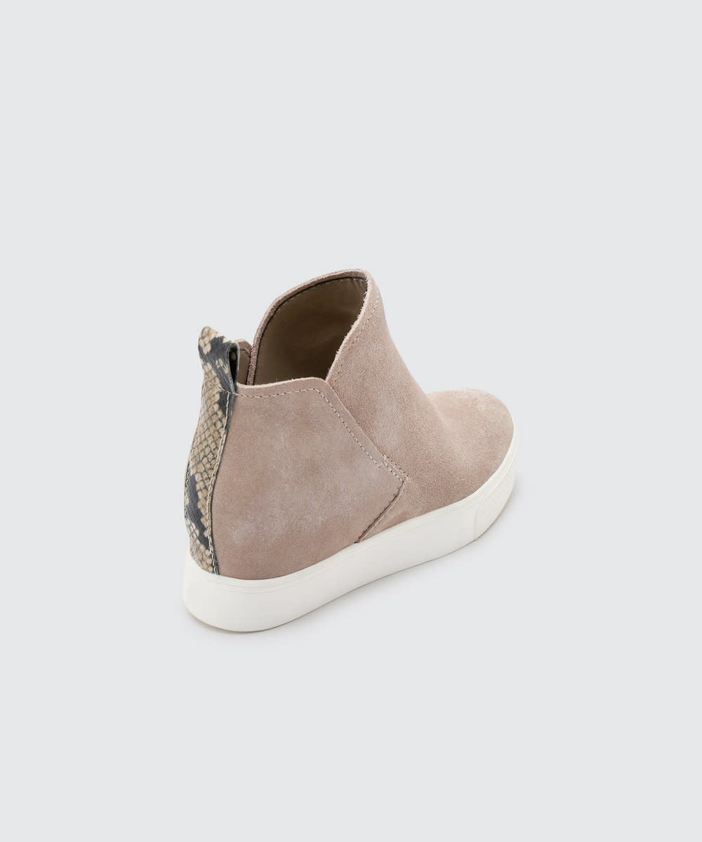 Dolce Vita Walker Taupe Wedge Sneaker