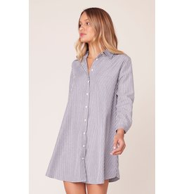BB Dakota Good News Stripe Shirt Dress