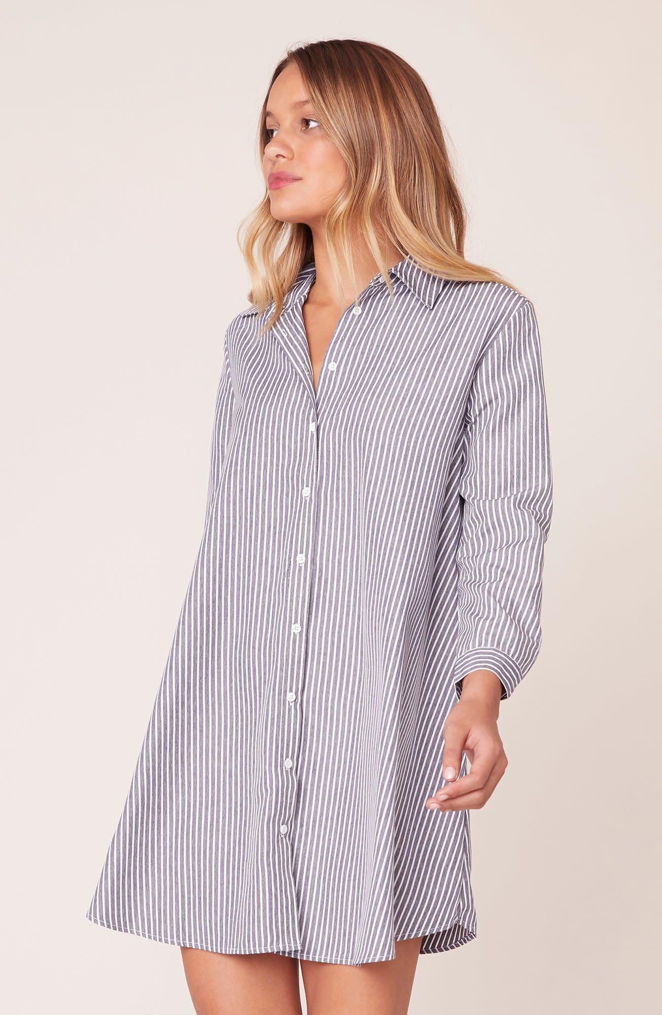 BB Dakota Good News Stripe Shirt Dress