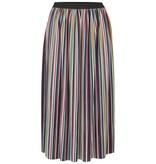 Sugarhill Brighton Quinn Striped Plisse Pleated Skirt