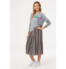 Sugarhill Brighton Quinn Striped Plisse Pleated Skirt