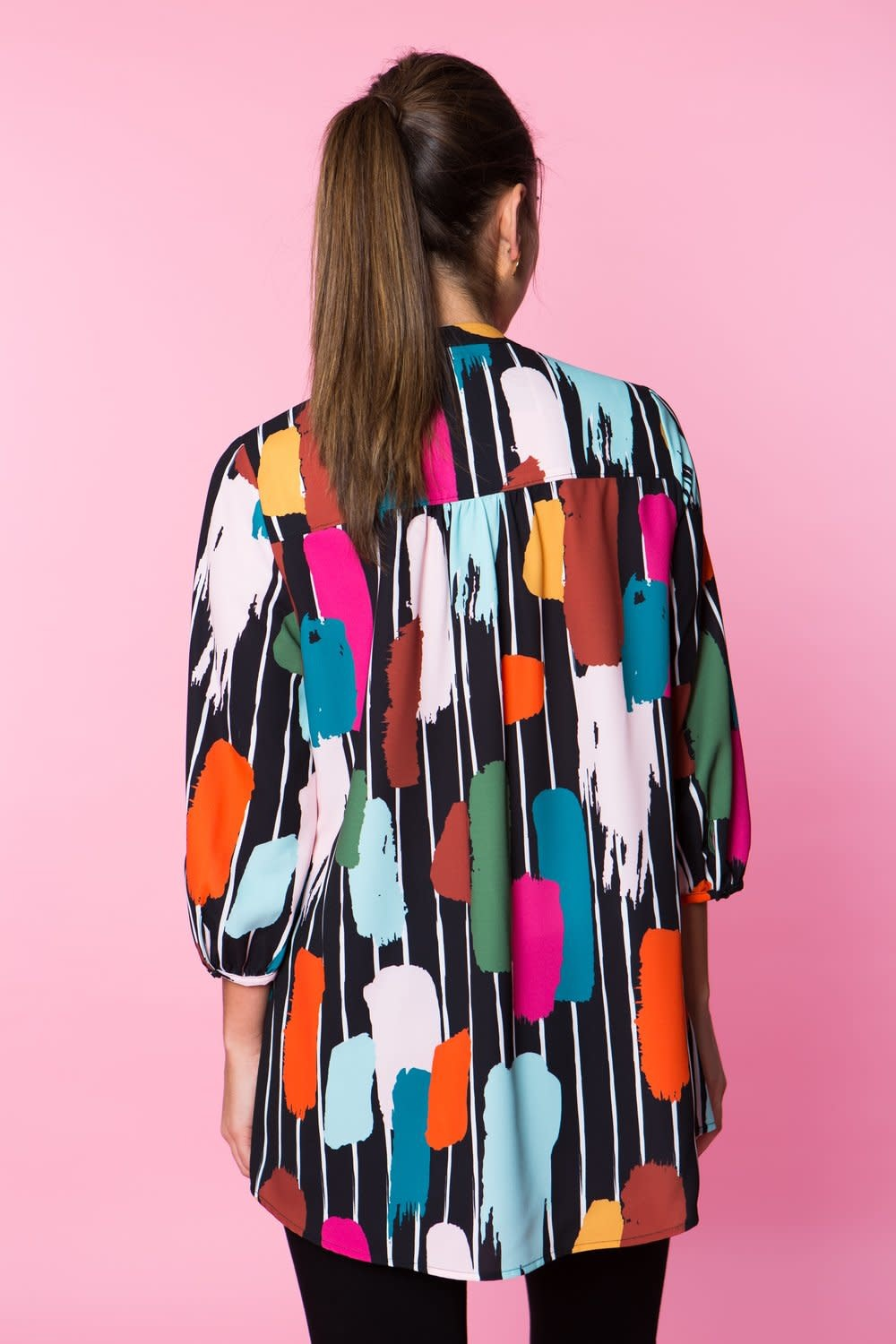 Crosby By Mollie Burch Marti Tunic in Paint Stripe