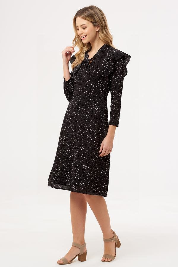 Sugarhill Brighton Leilani Petal Spot Ruffle Dress