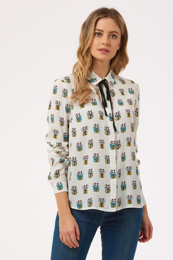 Sugarhill Brighton Catrina Lucky Cat Shirt