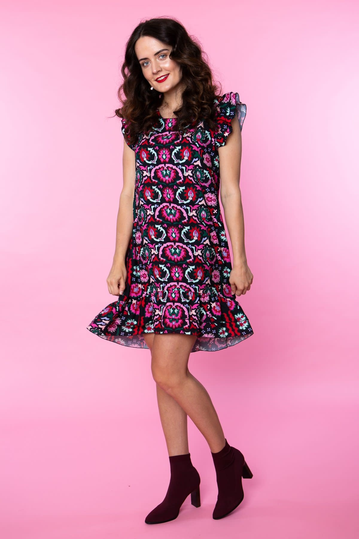 Crosby By Mollie Burch Preston Dress in Brocade
